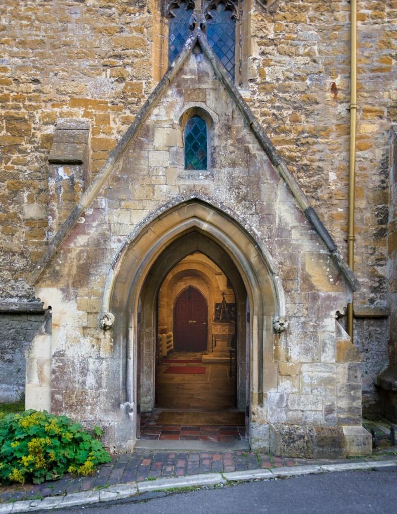 Blockley Church door